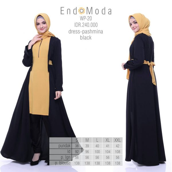 Gamis-Endomoda-Wp20-Black