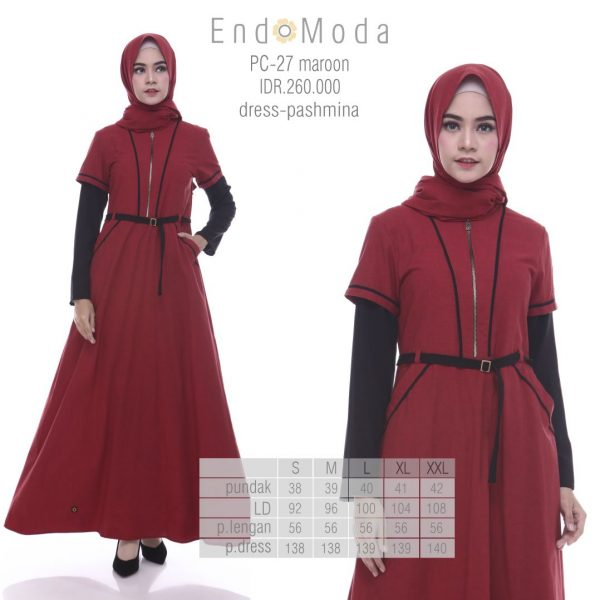 Tunik Endomoda PC27 maroon